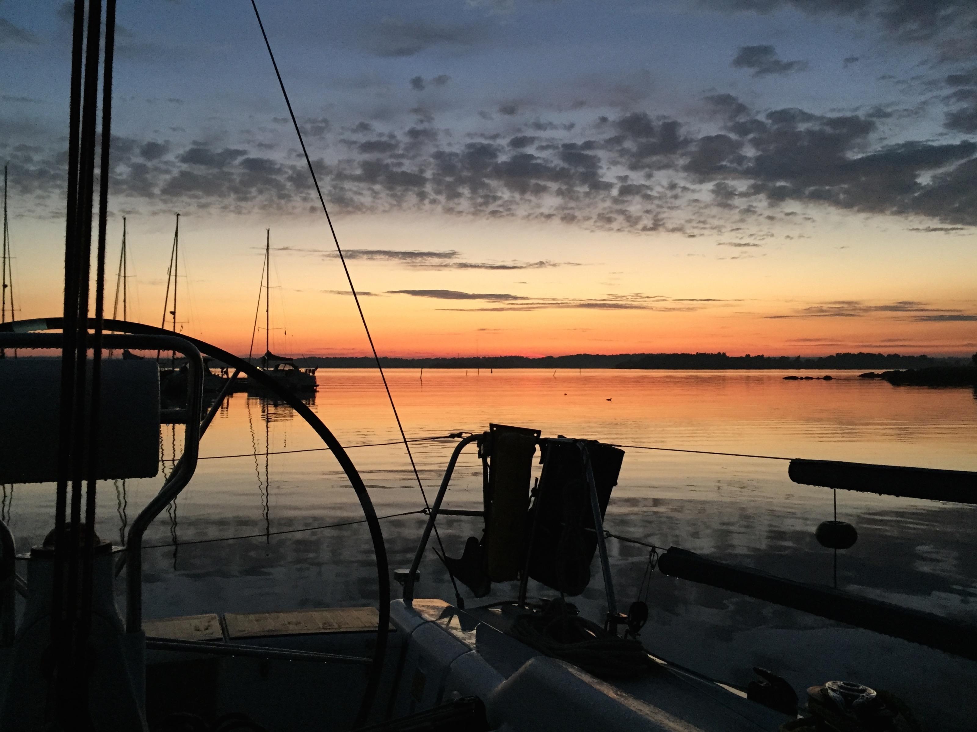 Solnedgång, Dragsö