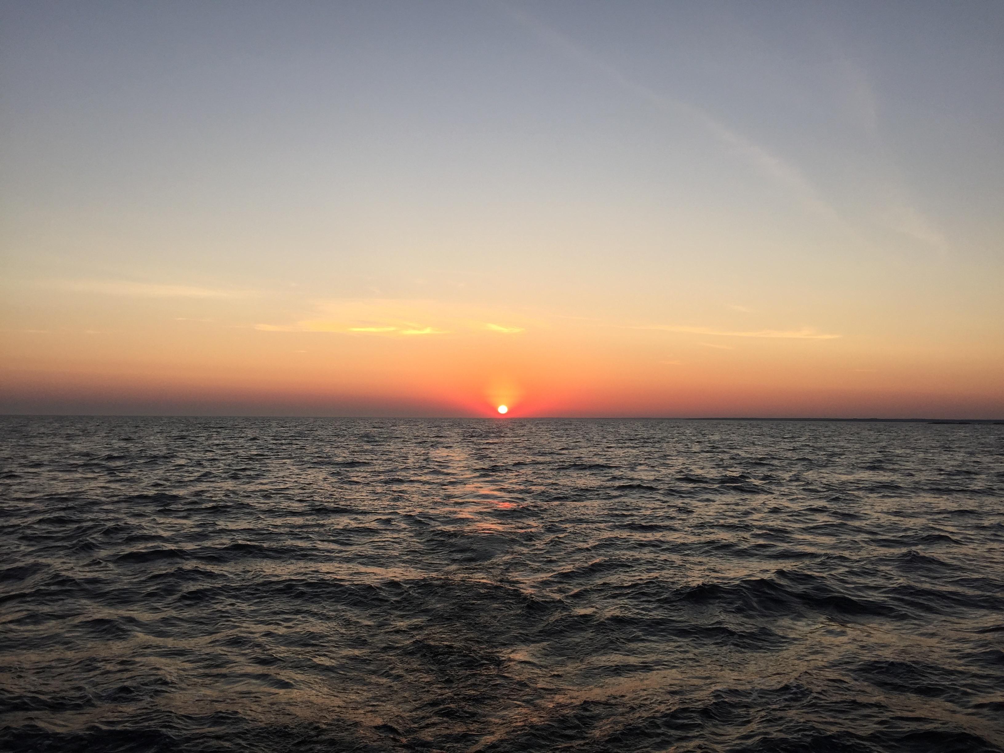 Solnedgång på väg till Karlskrona