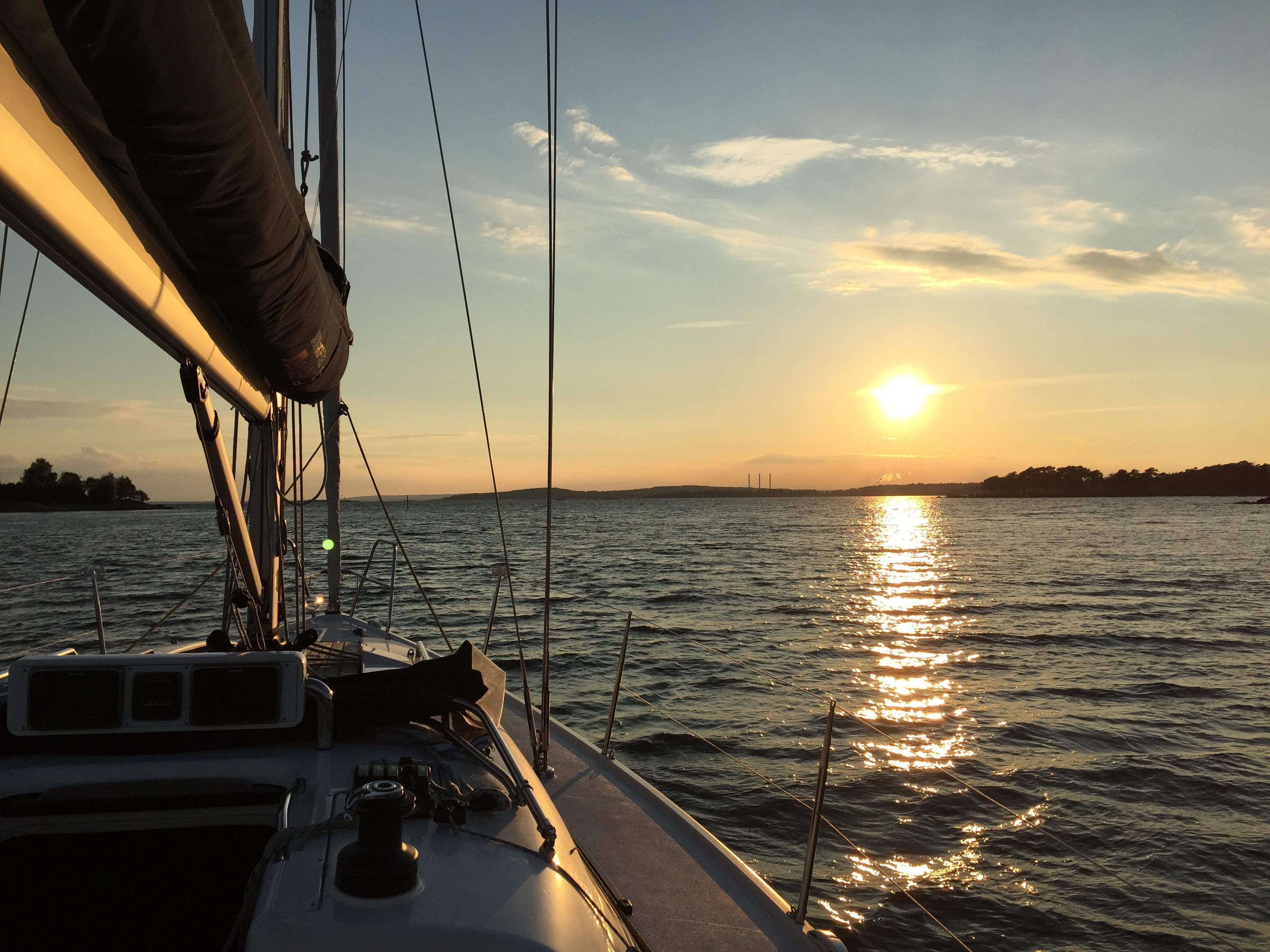 Solnedgång, Karlshamns skärgård